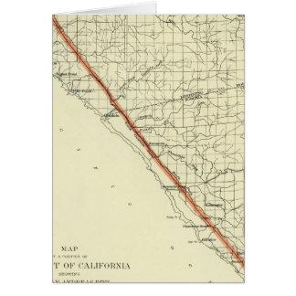 Küste von Kalifornien San- Andreasriß zeigend Karte