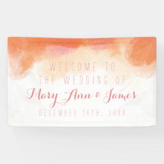Küsten-Hochzeits-Willkommen erröten Aquarell Banner