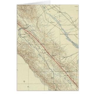 Küsten-Strecken, die San- Andreasriß zeigen Karte