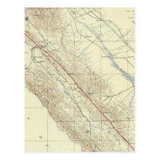 Küsten-Strecken, die San- Andreasriß zeigen Postkarte