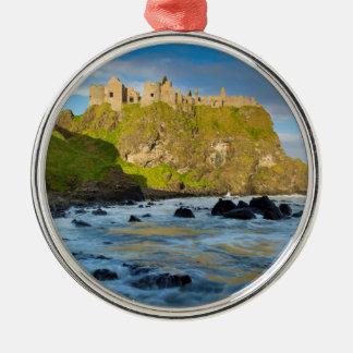KüstenDunluce Schloss, Irland Silbernes Ornament