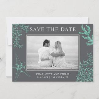 Coastal Photo Wedding Save the Date
