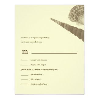 Küstenlinie hütet Wedding RSVP/Response Karten 10,8 X 14 Cm Einladungskarte