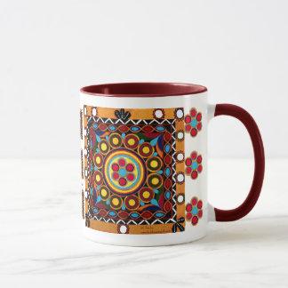 Kutch Stickerei-Keramik, globale Tasse