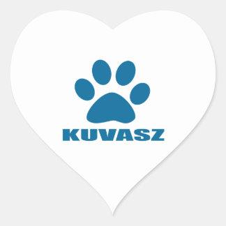 KUVASZ HUNDEentwürfe Herz-Aufkleber