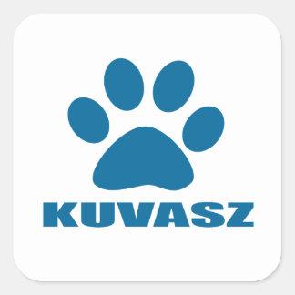 KUVASZ HUNDEentwürfe Quadratischer Aufkleber