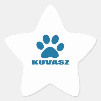 KUVASZ HUNDEentwürfe Stern-Aufkleber