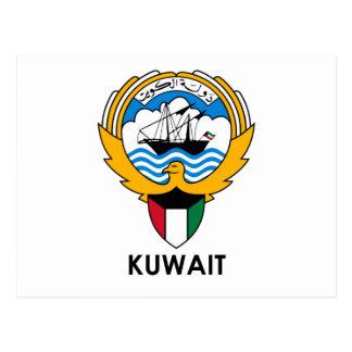 KUWAIT - Emblem/Flagge/Wappen/Symbol Postkarte