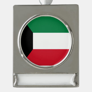 Kuwait-Flagge Banner-Ornament Silber