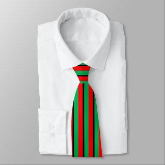 Kwanzaa färbt rotes schwarzes grünes bedruckte krawatten