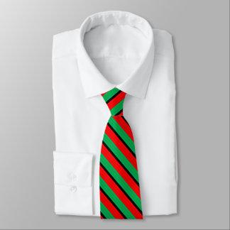 Kwanzaa färbt rotes schwarzes grünes individuelle krawatte