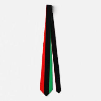 Kwanzaa färbt rotes schwarzes grünes krawatten