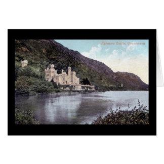 Kylemore Schloss Connemara Irland Zwanzigerjahre Grußkarte