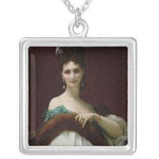 La Comtesse de Keller, 1873 Halskette Mit Quadratischem Anhänger