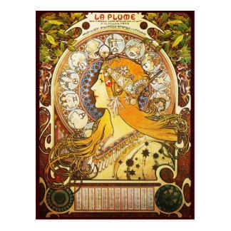 La-Feder Alphonse Mucha Postkarte