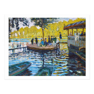 La Grenouillere Claude Monet Kunstmalerei Postkarte