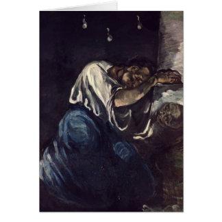 La Madeleine oder La Douleur, c.1869 Grußkarte