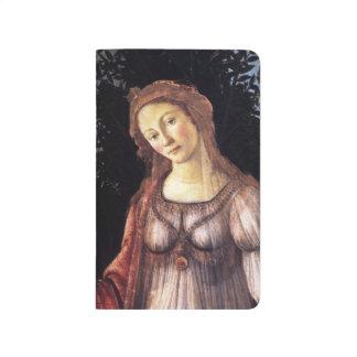 La Primavera im Detail durch Sandro Botticelli Taschennotizbuch