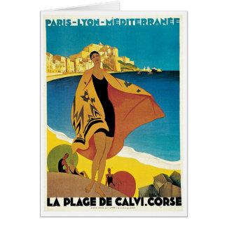 La-Strandde Calvi, Corse Karte