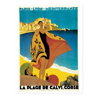 La-Strandde Calvi, Corse Postkarte