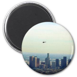 LA und Hubschrauber Runder Magnet 5,1 Cm