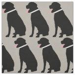 Labrador-Hundeschwarz-Muster Stoff