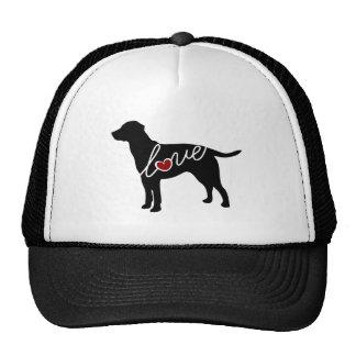 Labrador-Liebe Baseballcaps