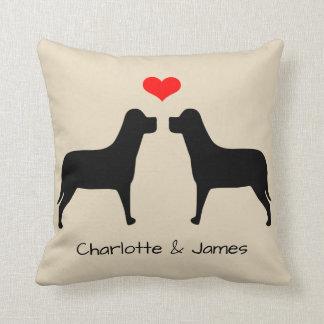 Labradors Silhouette mit dem Herzen personalisiert Kissen