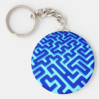 Labyrinth-Blau Schlüsselanhänger