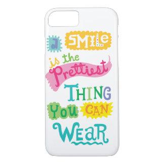 Lächeln ist die hübschste Sache, die Sie tragen iPhone 8/7 Hülle