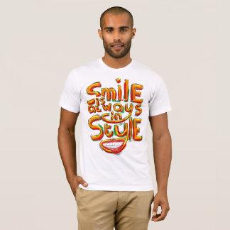 Lächeln ist immer in der Art T-Shirt