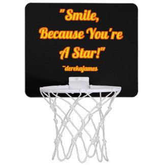 Lächeln, weil Sie ein Stern sind!  Basketballkorb Mini Basketball Ringe