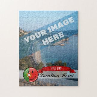 Lächelnde portugiesische Flagge Puzzle