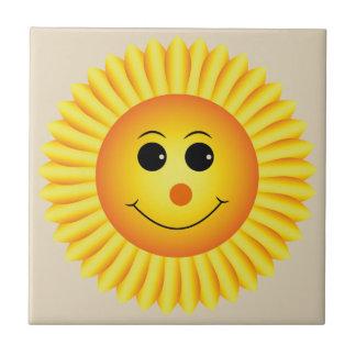 Lächelnde Sonnenblume Fliese