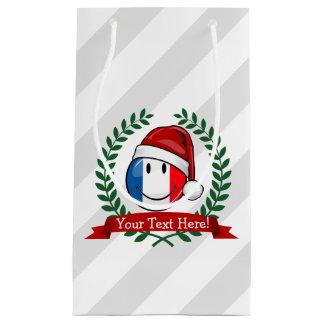 Lächelnde Weihnachtsart-Frankreich-Flagge Kleine Geschenktüte