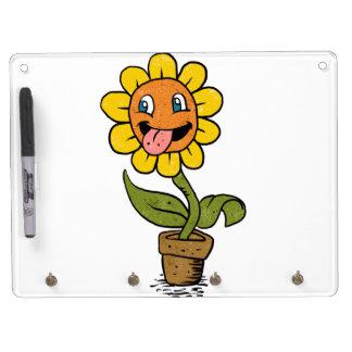 lächelnder Blumen-Cartoon Memoboards
