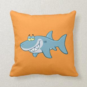 Lächelnder Haifisch Kissen