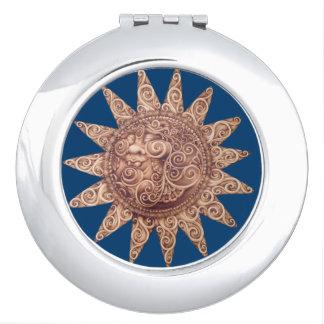 Lächelnder kompakter Spiegel Sun Taschenspiegel