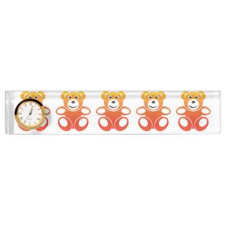 Lächelnder Sommer-Teddybär Namensplakette