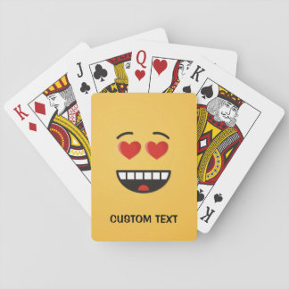 Lächelndes Gesicht mit Herz-Förmigen Augen Spielkarten