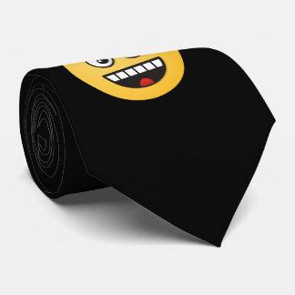 Lächelndes Gesicht mit offenem Mund Krawatten