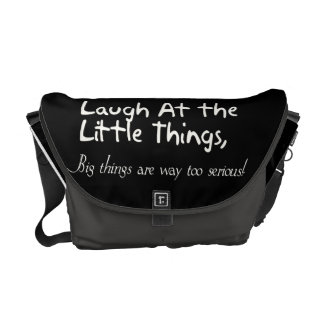 Lachen an den kleinen Sachen, motivierend Kurier Taschen