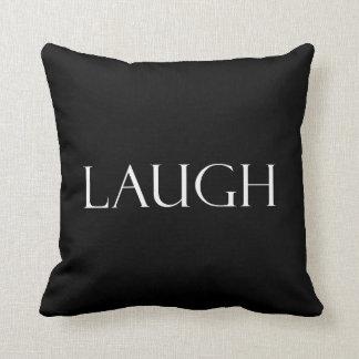 Lachen zitiert inspirierend Gelächter-Zitat Kissen