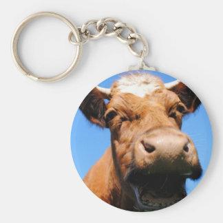 Lachende Kuh Schlüsselanhänger