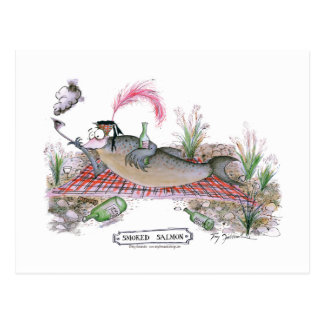 Lachsfische, tony fernandes postkarte