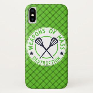 Lacrosse-Waffen des Zerstörungs-Telefon-Kastens iPhone X Hülle