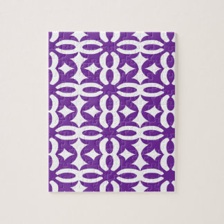 Lacy lila viktorianischer Druck Puzzle