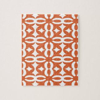 Lacy orange viktorianischer Druck Puzzle