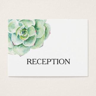 laden der saftige Hochzeits-Empfang des Watercolor Visitenkarte