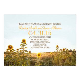 Laden rustikales Verlobungs-Party des 12,7 X 17,8 Cm Einladungskarte